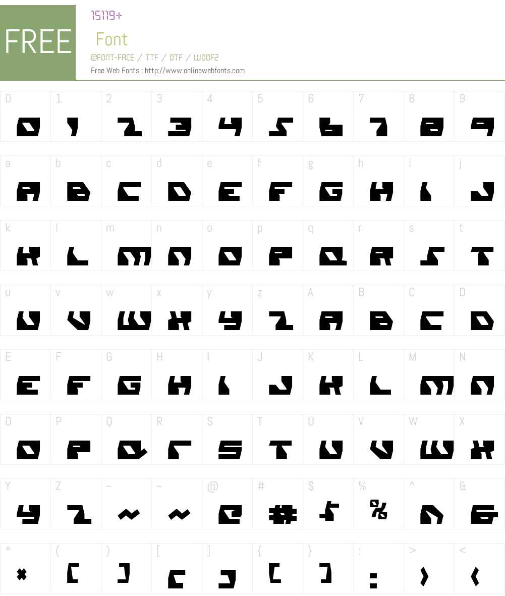 Daedalus Condensed Font Screenshots