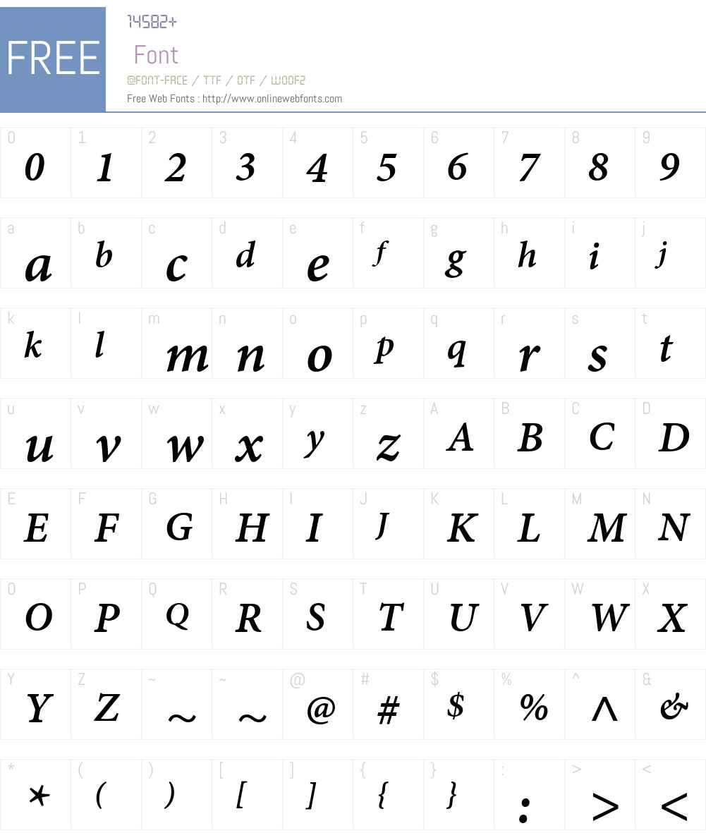 MinionW01-SmBdItCap Font Screenshots
