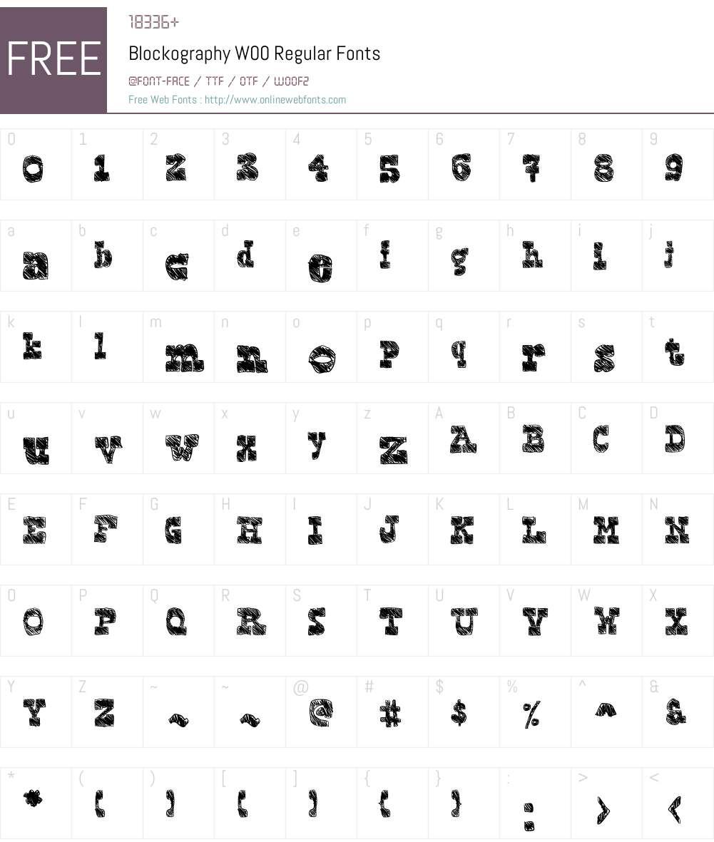 BlockographyW00-Regular Font Screenshots