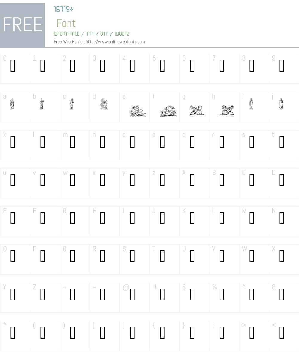 Statuer Font Screenshots