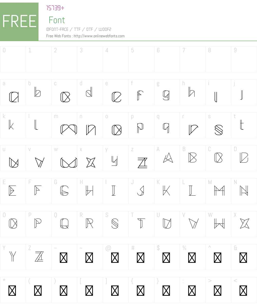 Metrica Font Screenshots