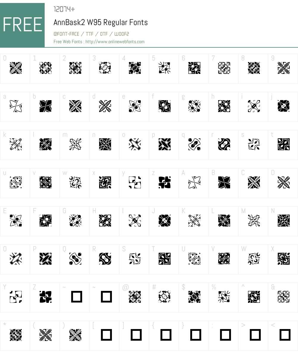 AnnBask2 Font Screenshots