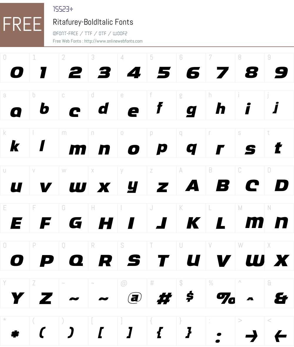 Ritafurey Font Screenshots