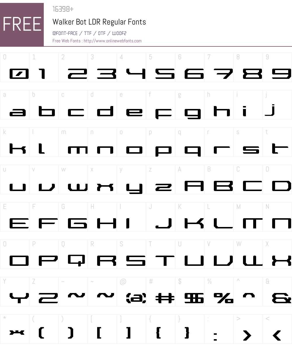 Walker Bot LDR Font Screenshots