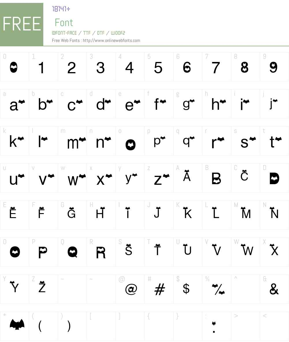 AEZ batty Font Screenshots