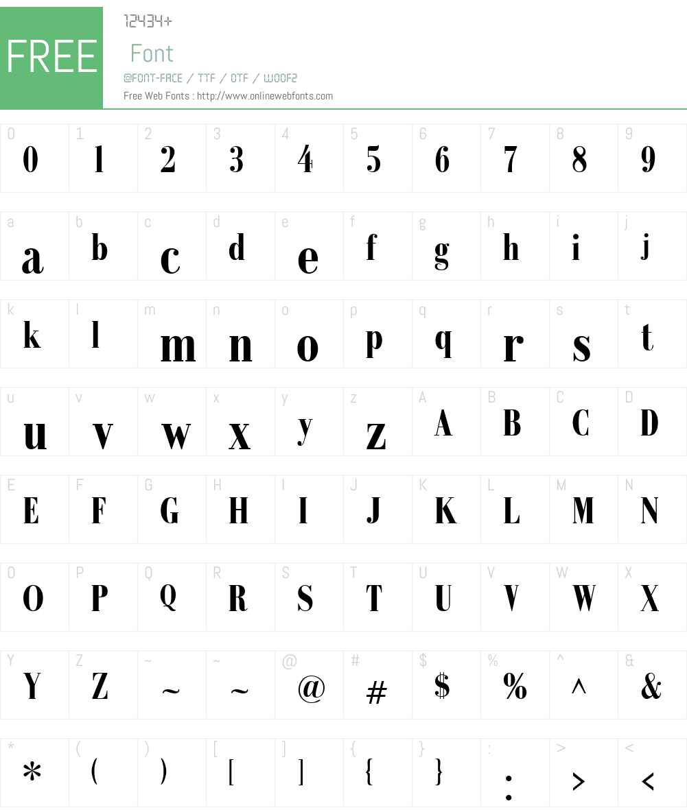 RecitalSSK Font Screenshots