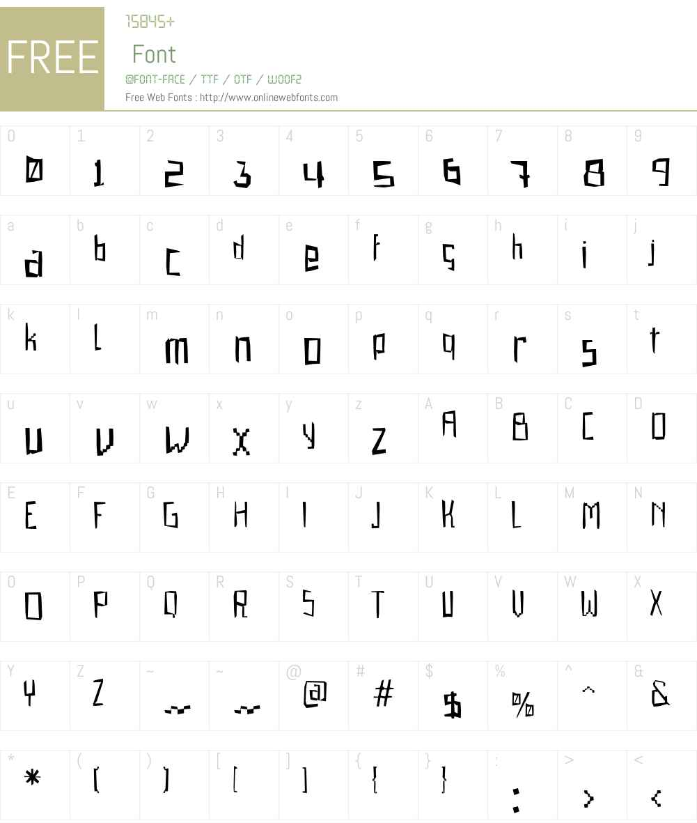 Gabardina Font Screenshots