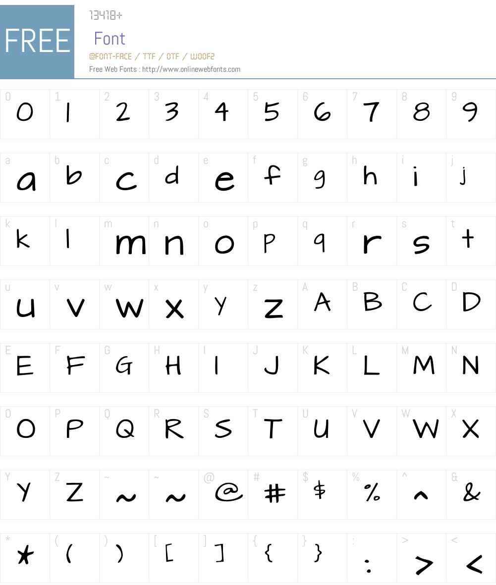ArchitectsDaughterW00-Reg Font Screenshots
