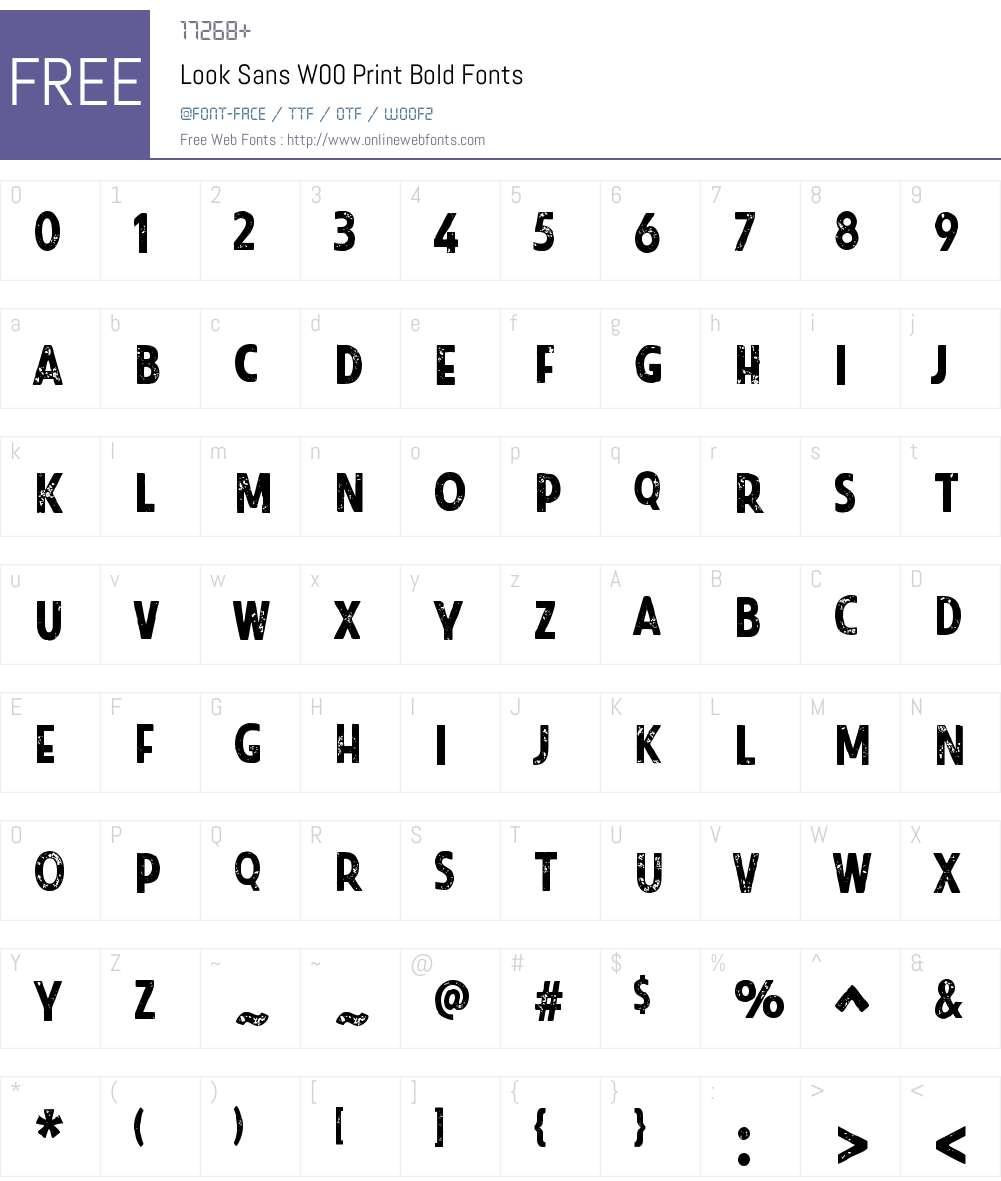 LookSansW00-PrintBold Font Screenshots