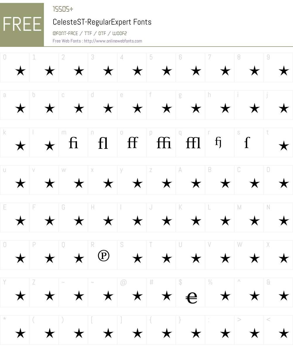 CelesteST Font Screenshots