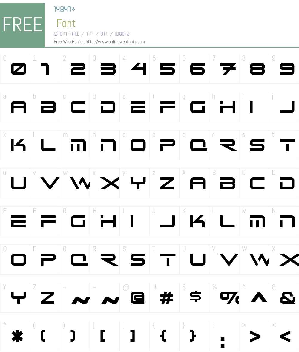ReceptsNFW01-Regular Font Screenshots