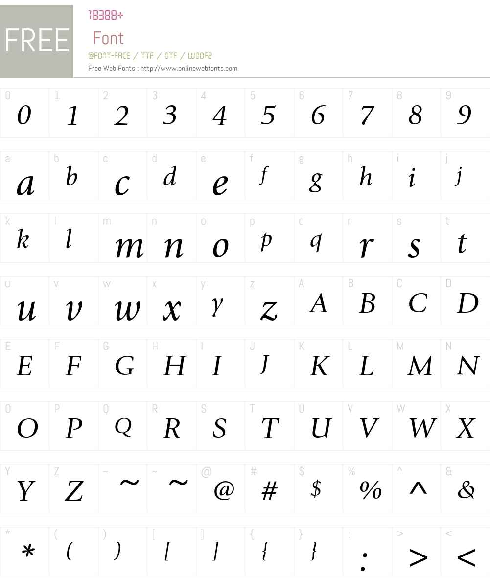 GiovanniEF Font Screenshots
