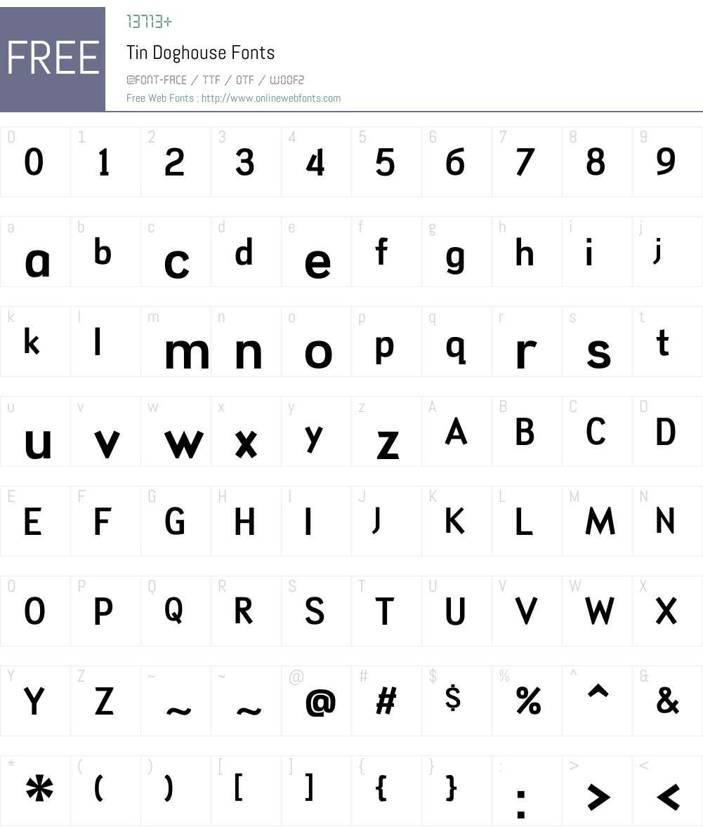 Tin Doghouse Font Screenshots