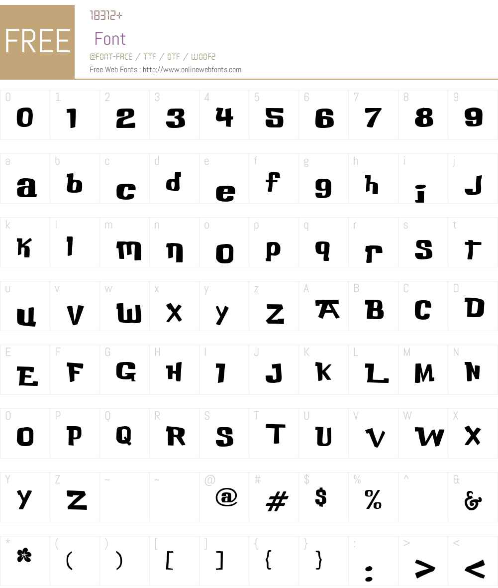 Buka Bird Font Screenshots