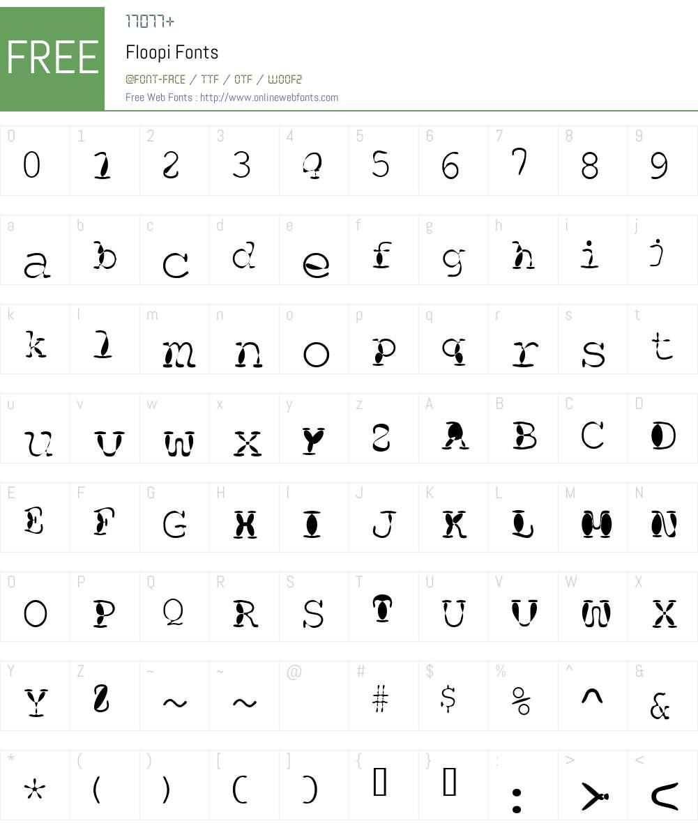 Floopi Font Screenshots