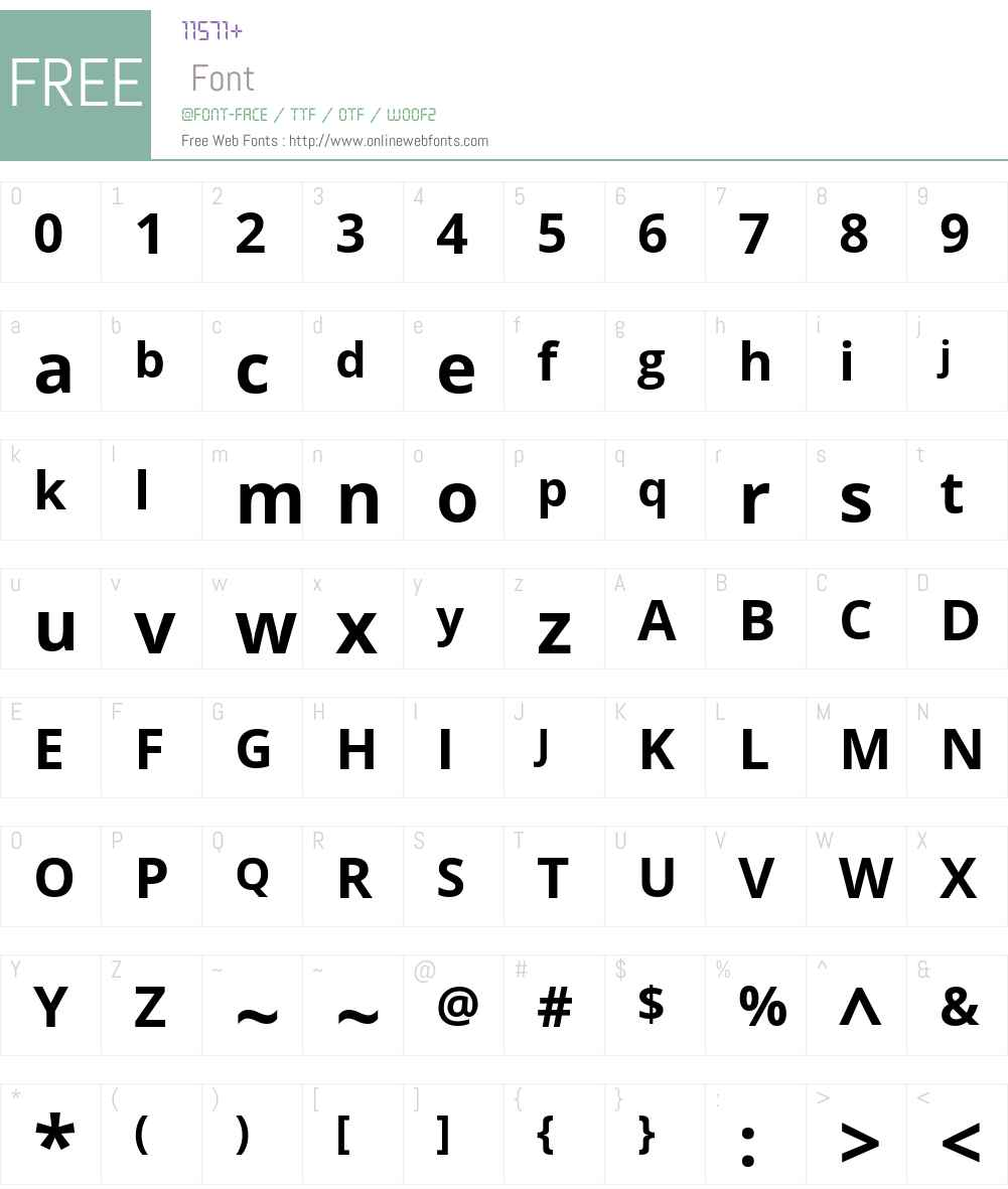 Open Sans Font Screenshots