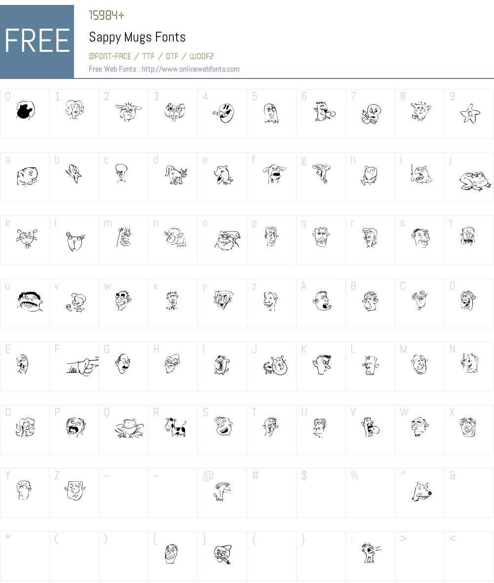 Sappy Mugs Font Screenshots