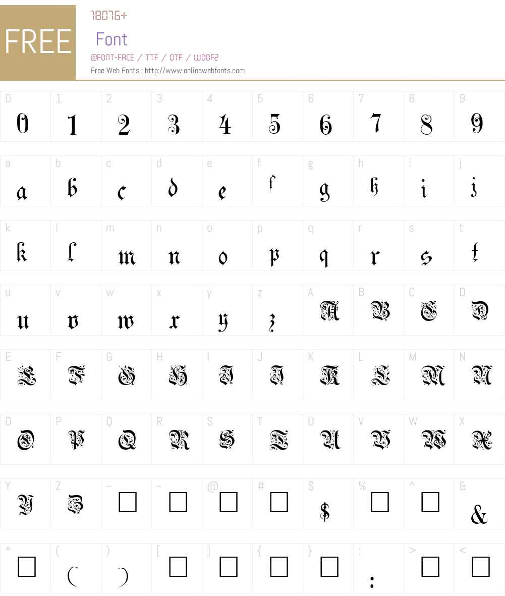 Uechi Font Screenshots