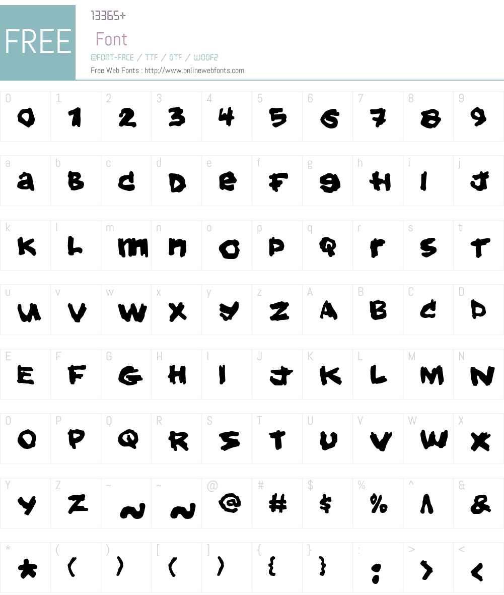 Hold your breath Font Screenshots