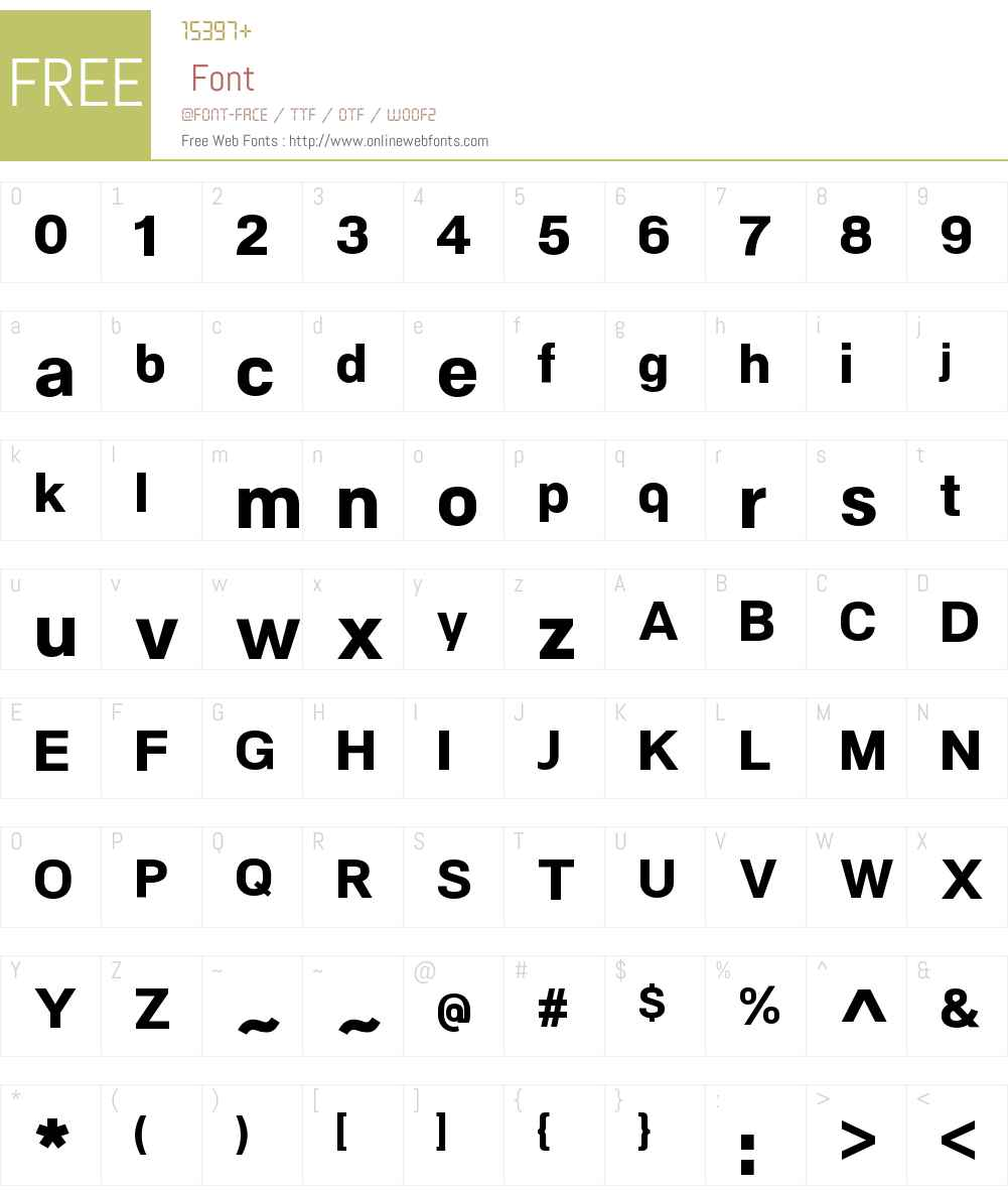 NeoGramW00-ExtraBold Font Screenshots
