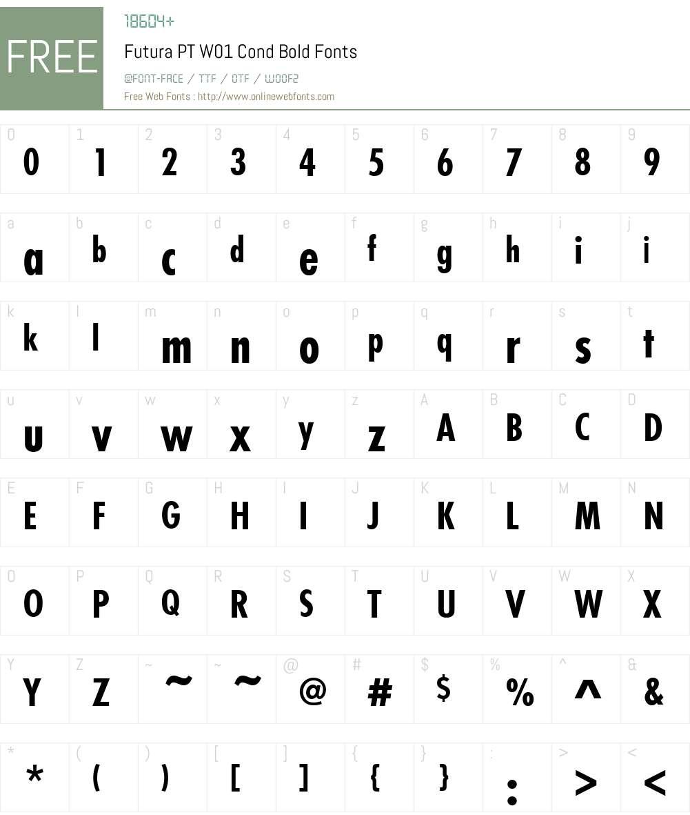 FuturaPTW01-CondBold Font Screenshots