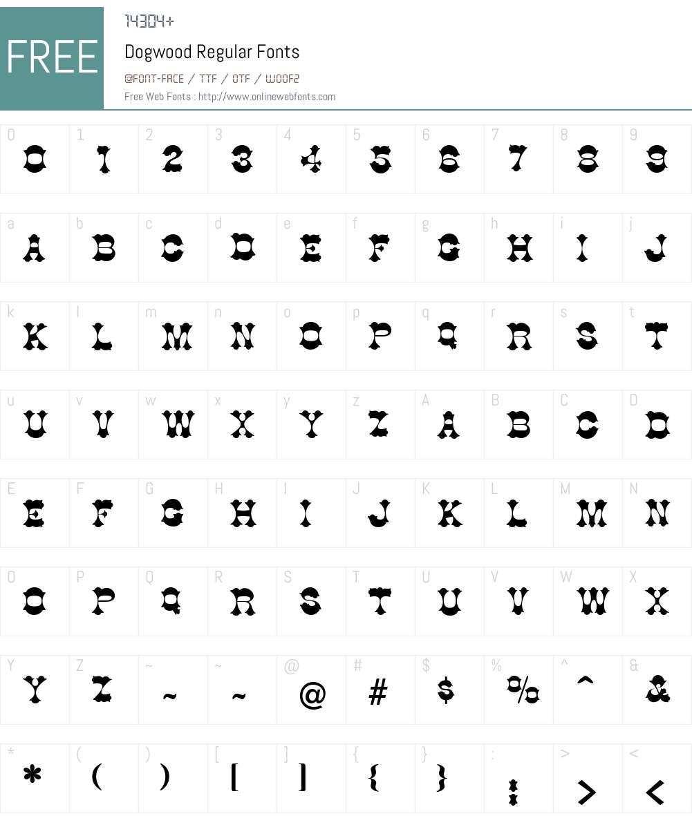 Dogwood Font Screenshots