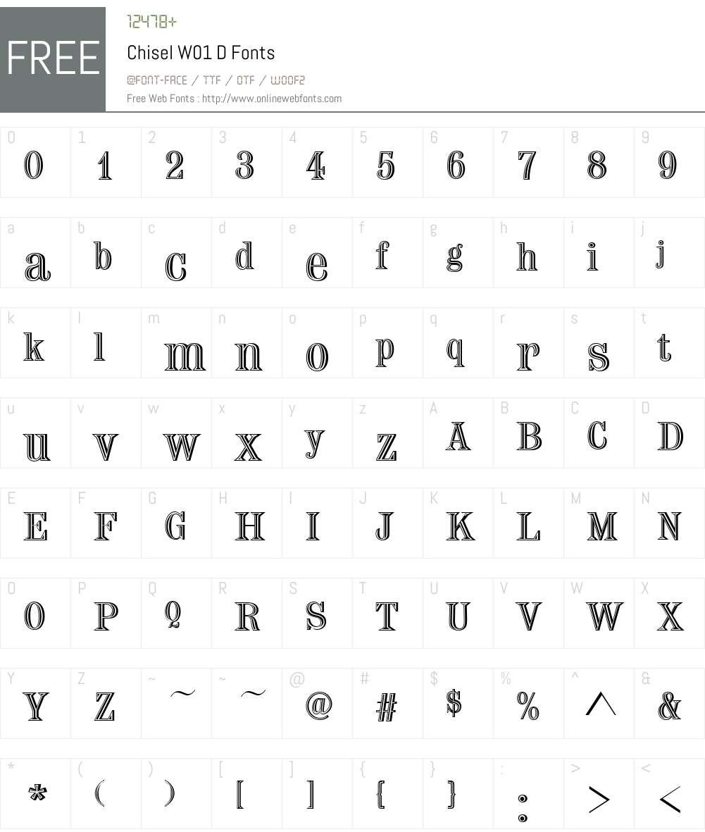 ChiselW01-D Font Screenshots