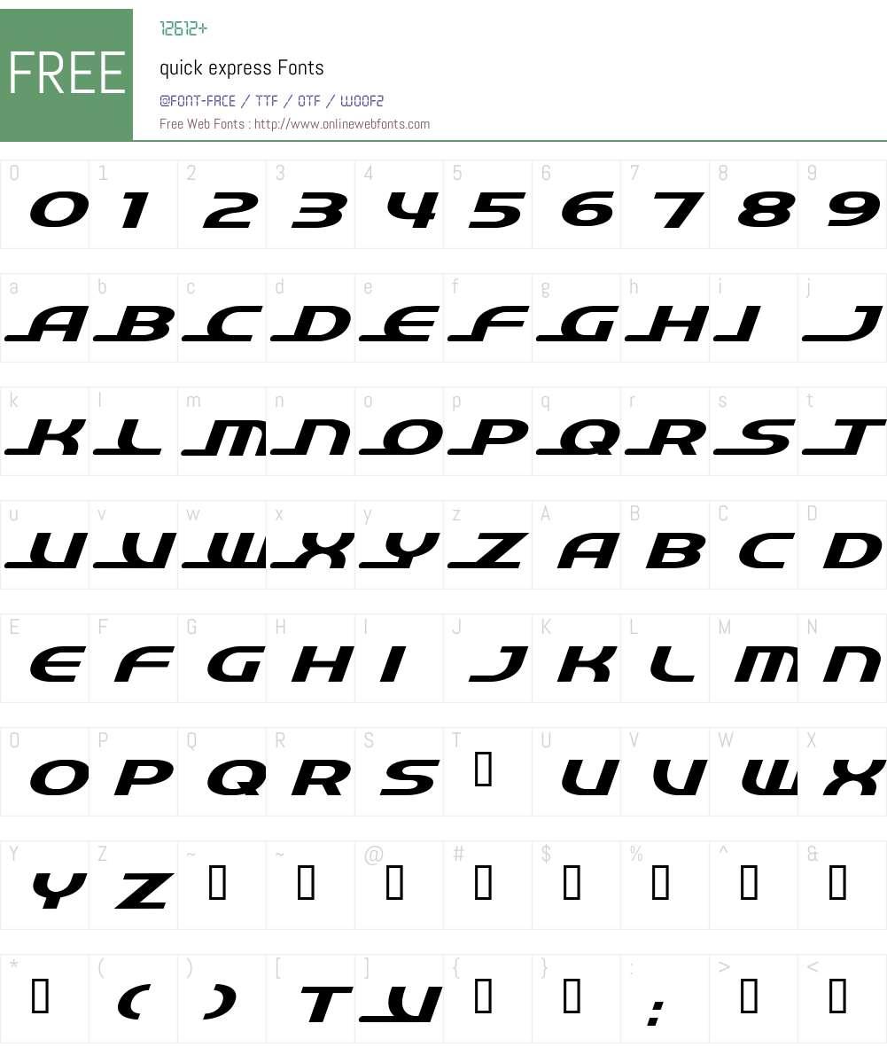 quick Font Screenshots