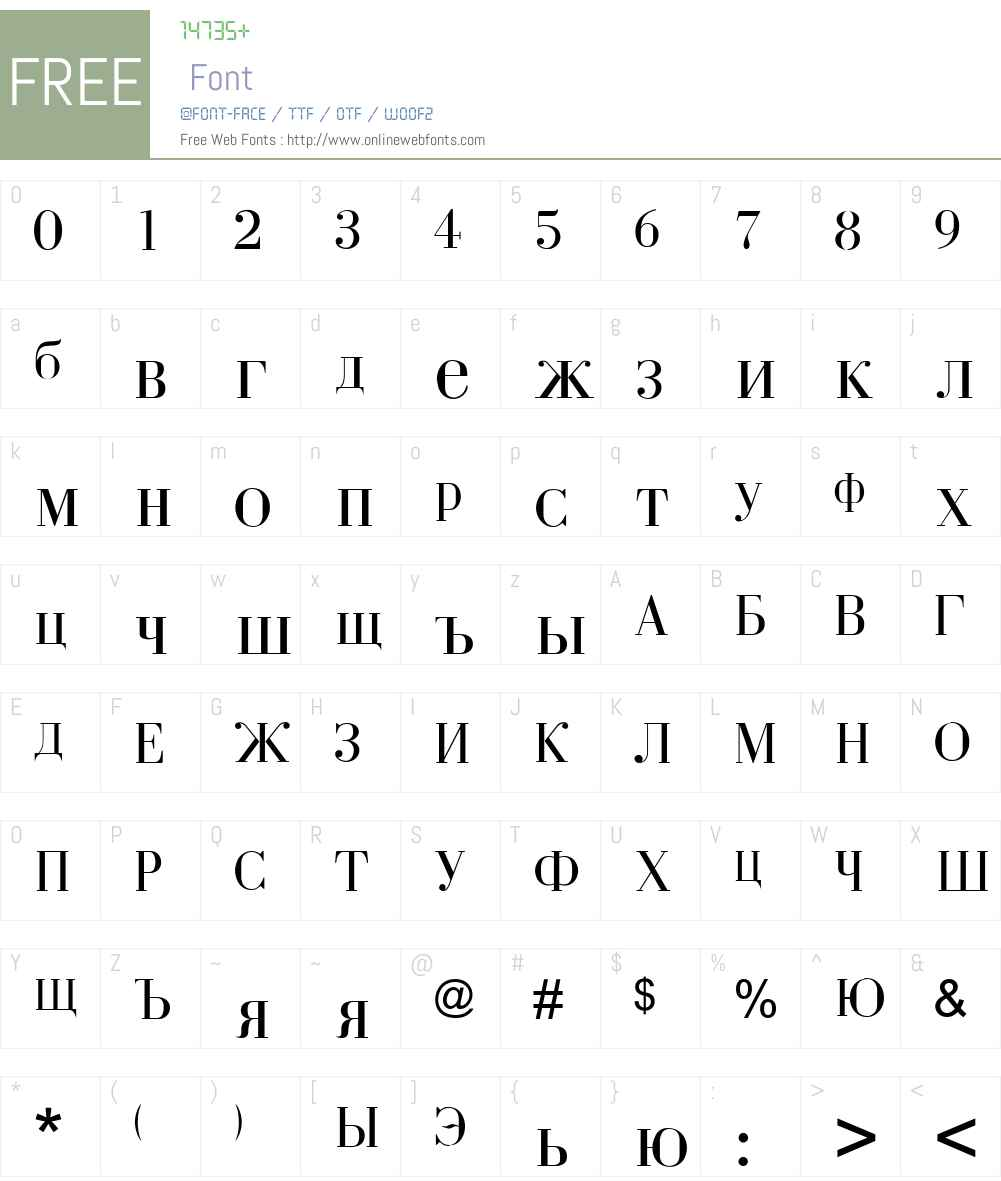 Tsar Font Screenshots