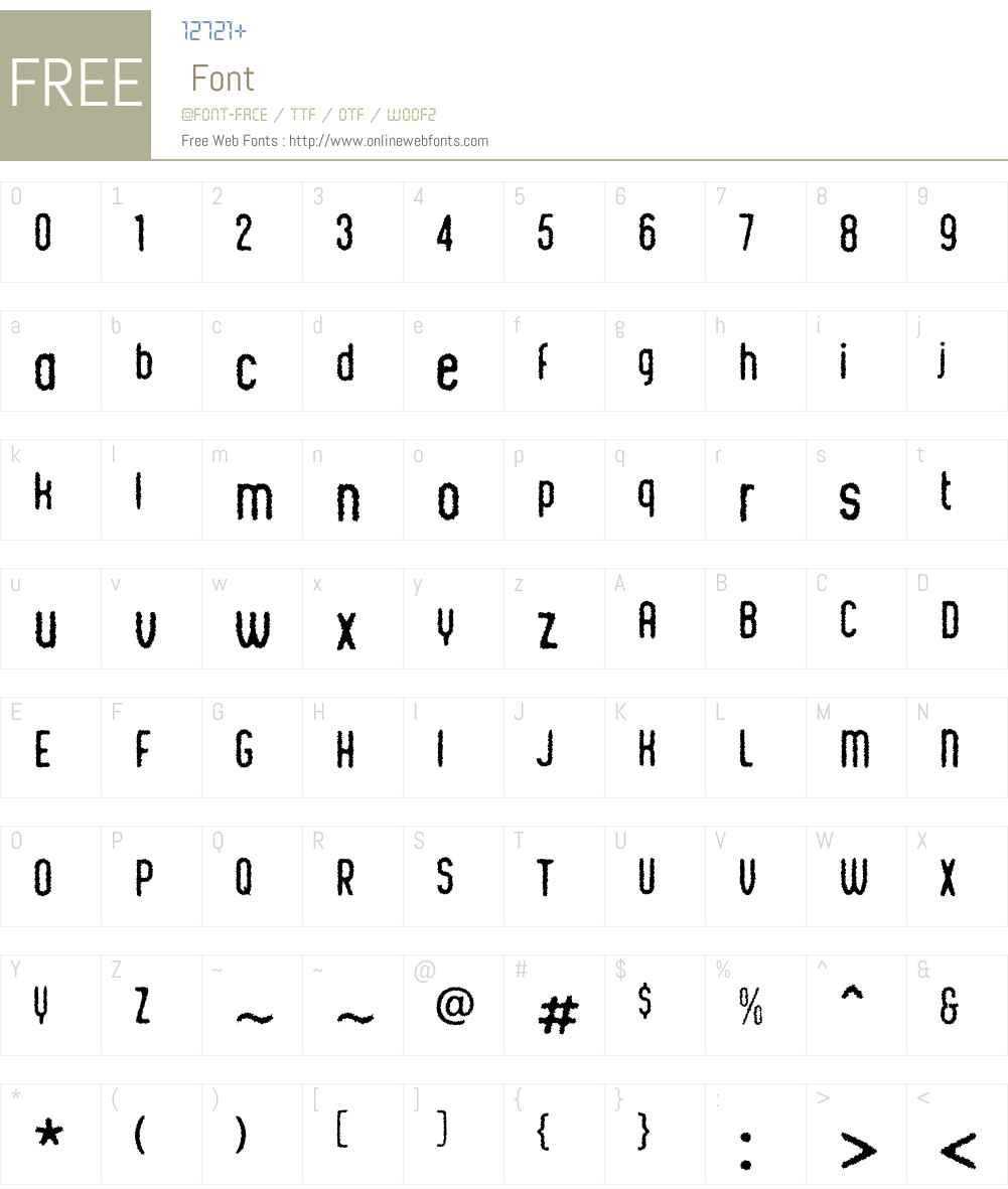 ChicChalkW00-Regular Font Screenshots