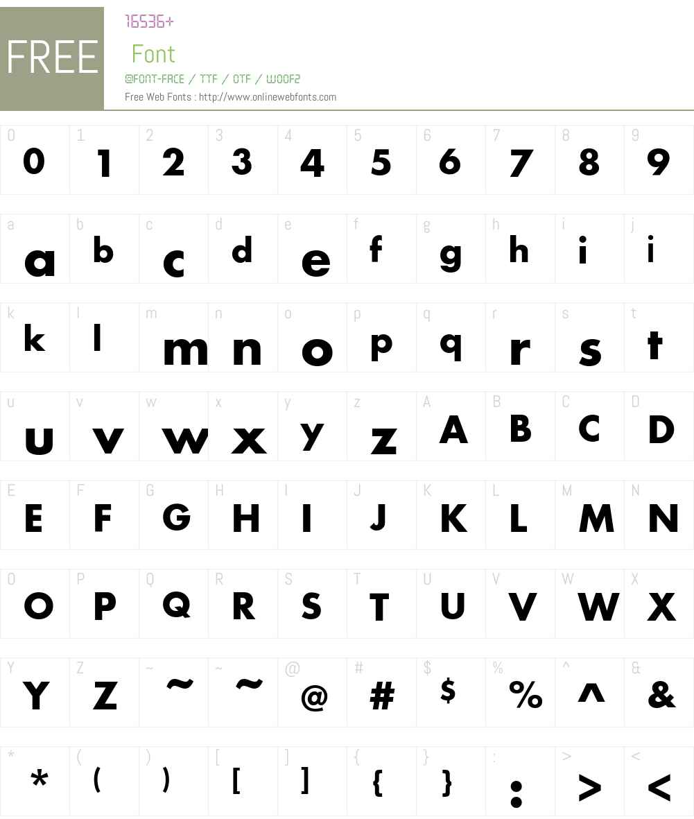 FuturaEFCE-Bold Font Screenshots