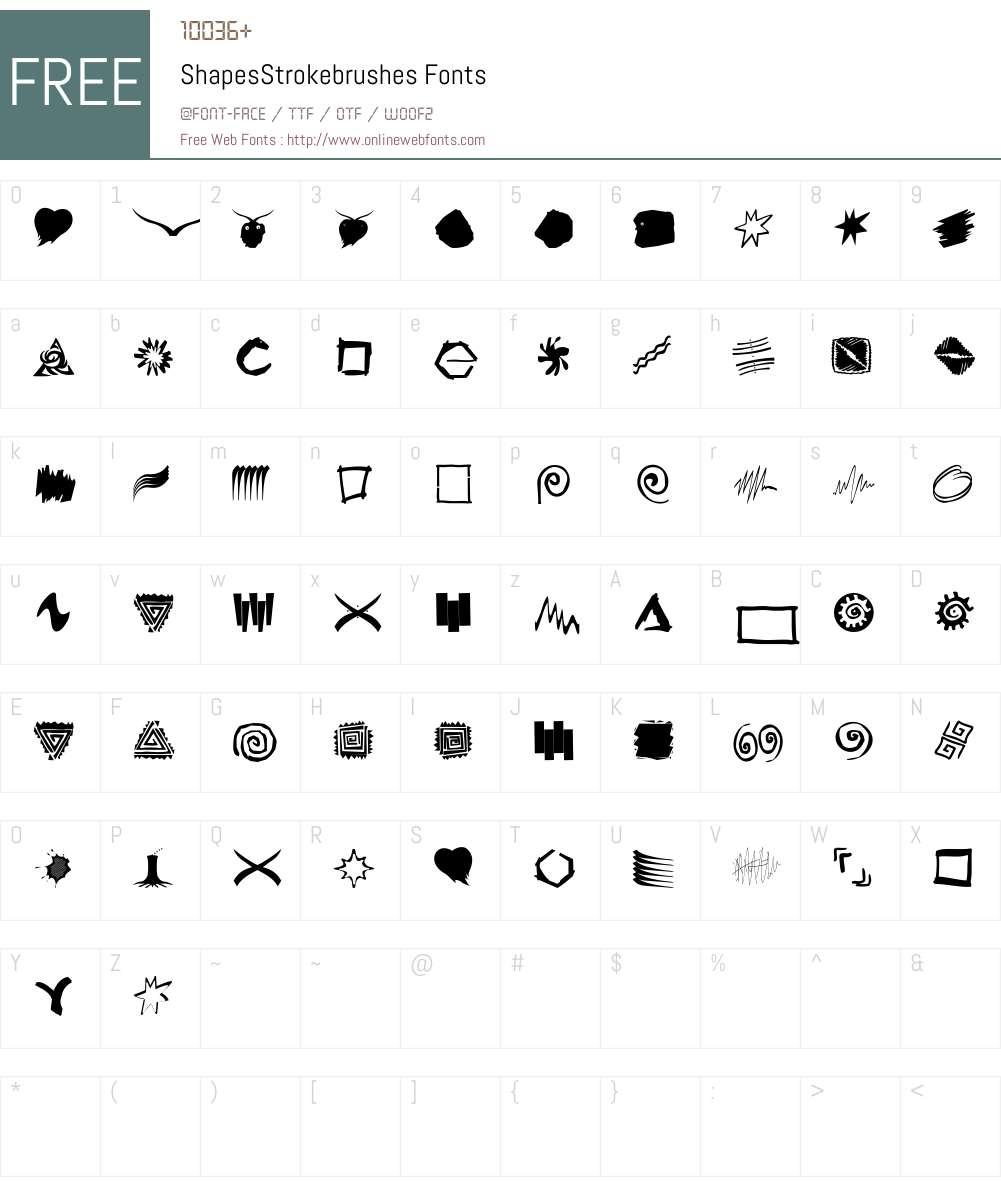ShapesStrokebrushes Font Screenshots
