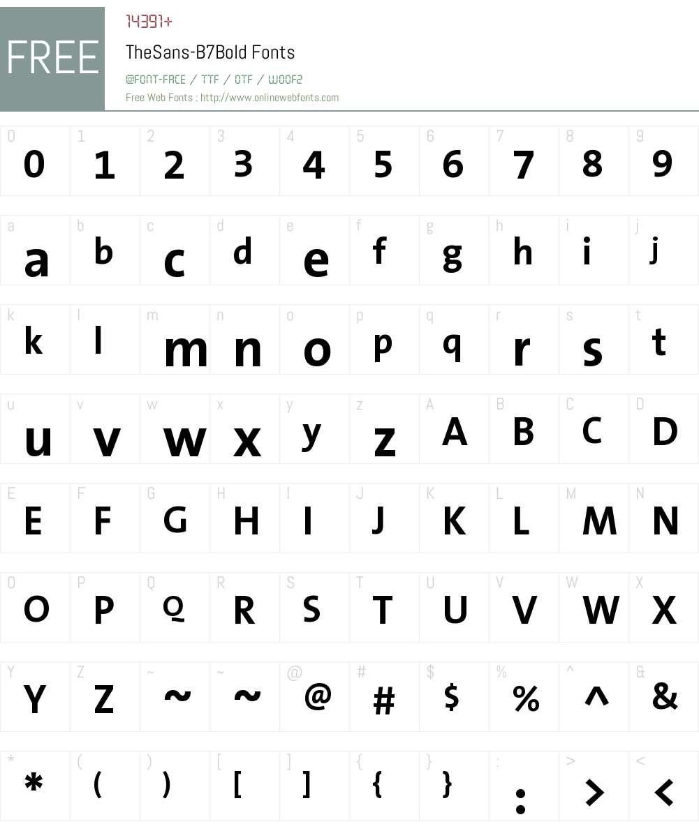 TheSans B7 Font Screenshots