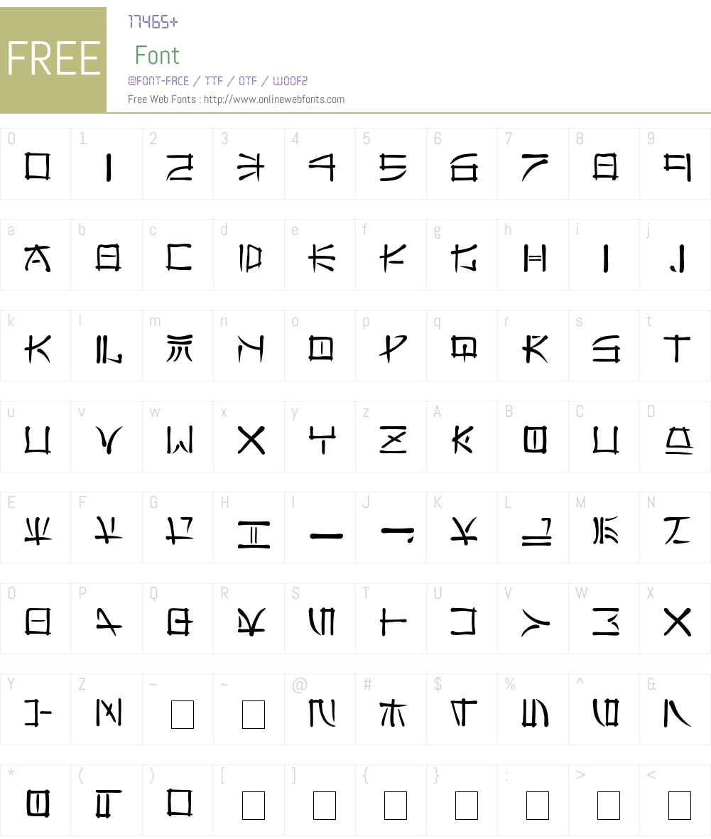 Far East Font Screenshots