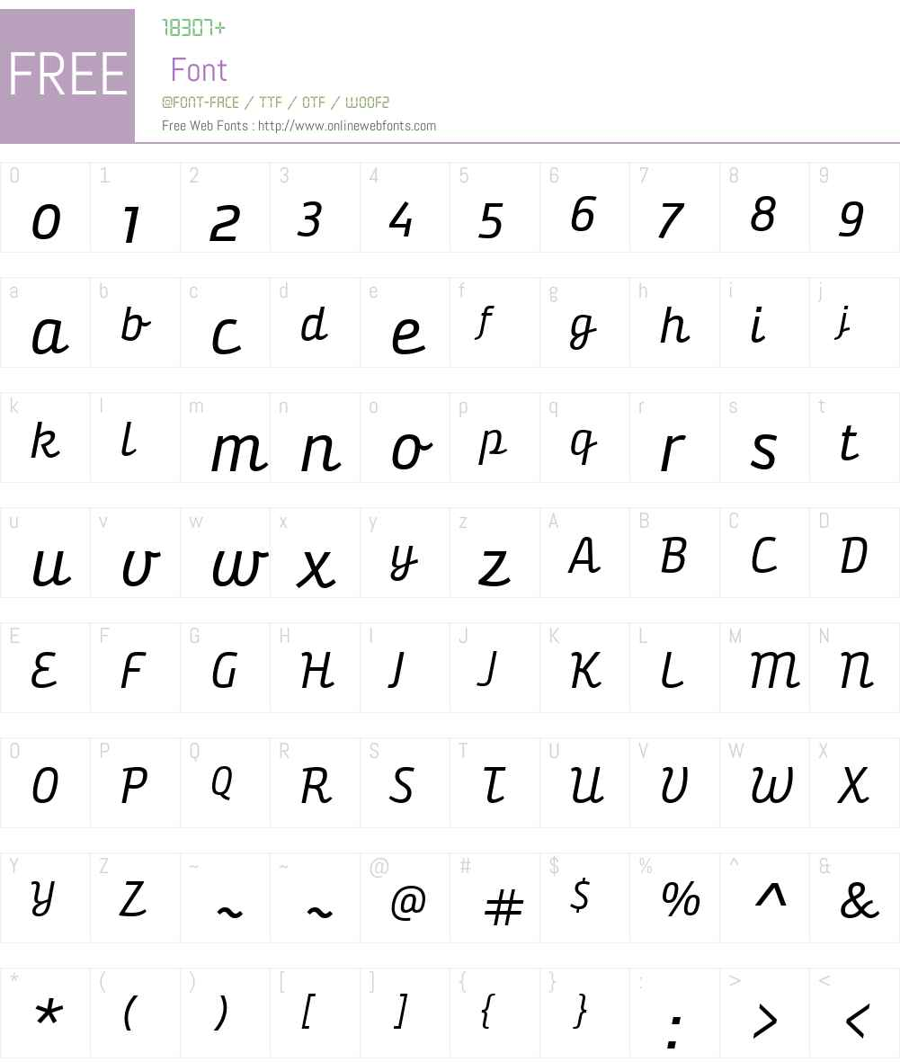 BunitaSwashW01-Regular Font Screenshots