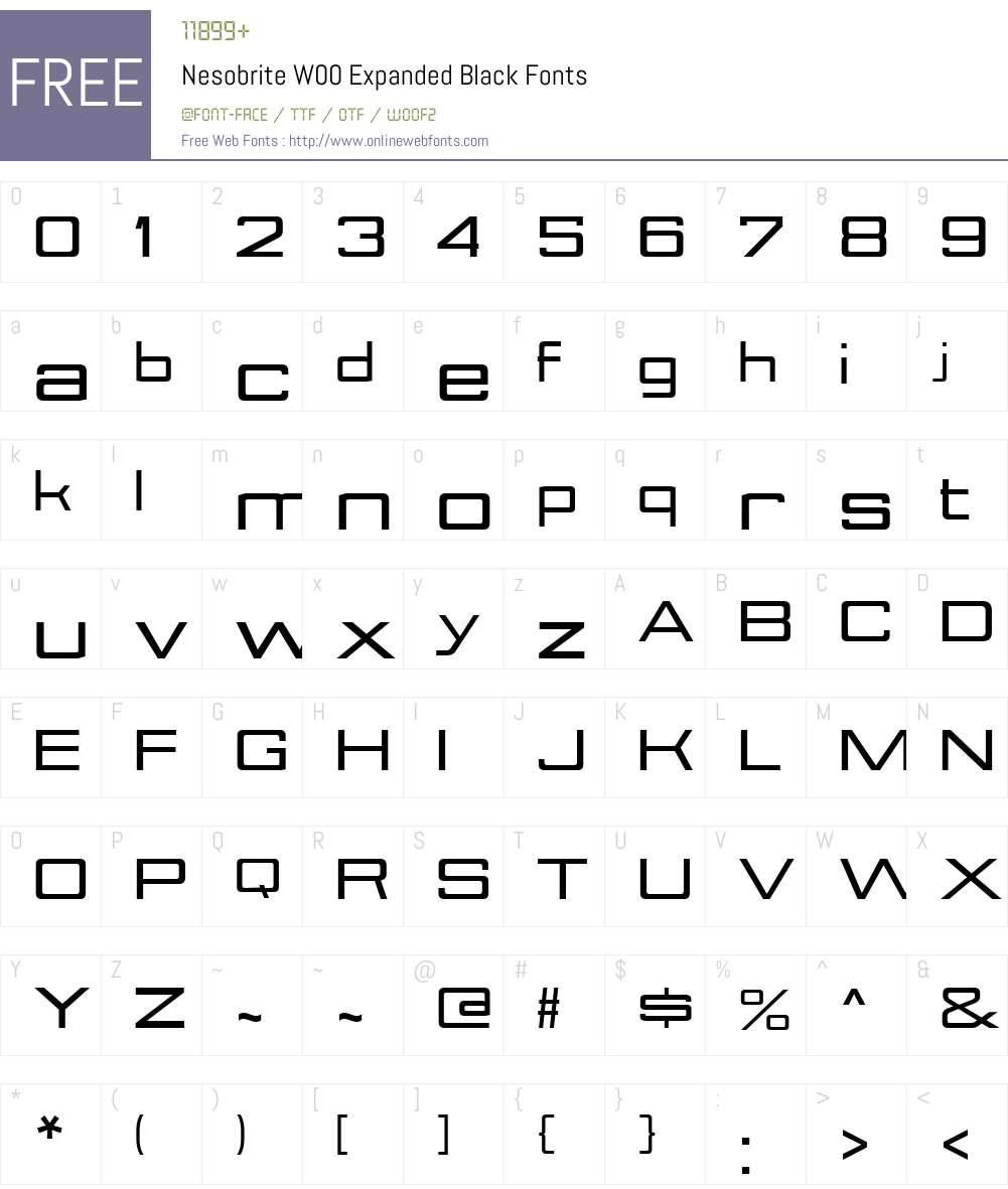 NesobriteW00-ExpandedBlack Font Screenshots