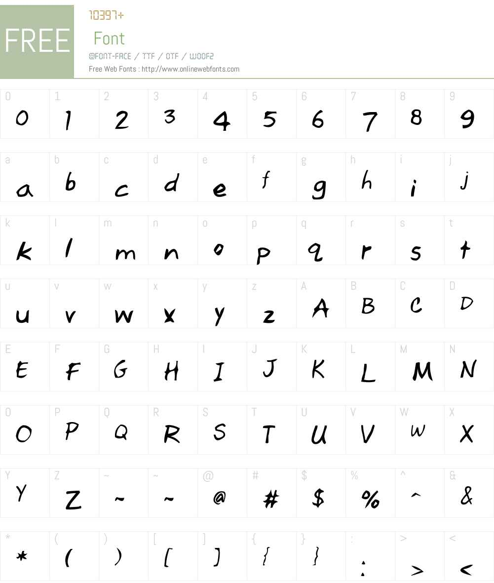 Red Lightning Font Screenshots