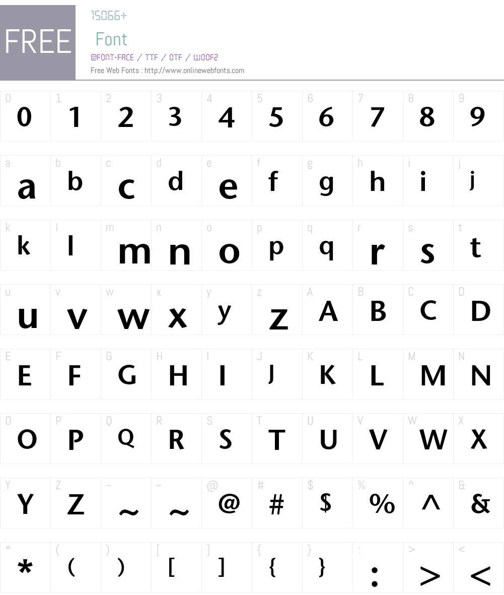ITC Stone Sans Std Font Screenshots