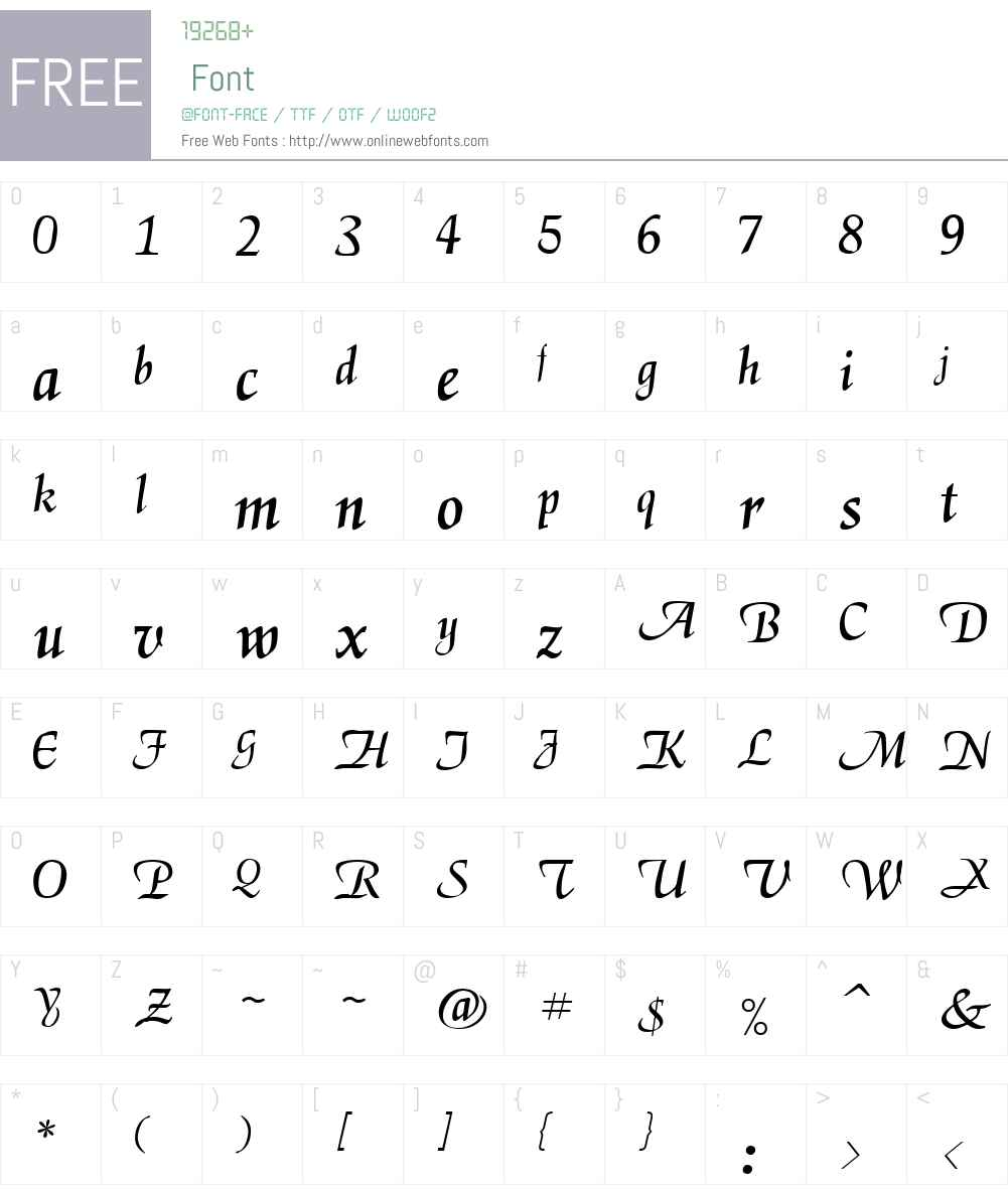 144-CAI978 Font Screenshots