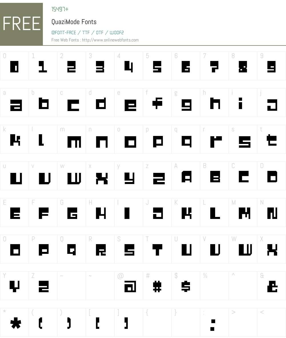 QuaziMode Font Screenshots