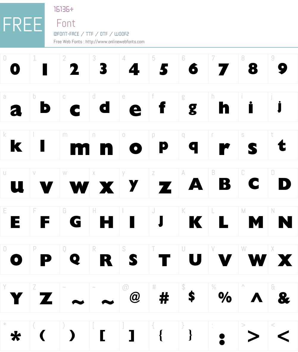 Gill Sans BQ Font Screenshots