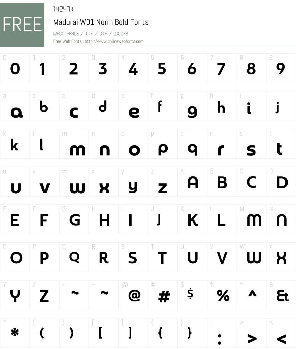 MaduraiW01-NormBold Font Screenshots