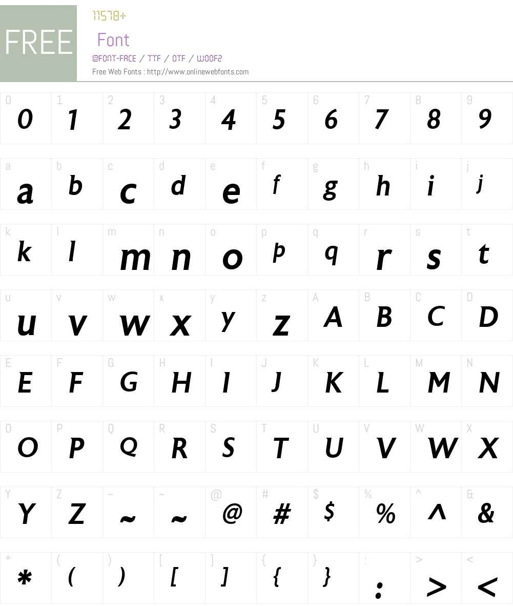 AstoriaW00-MediumItalic Font Screenshots