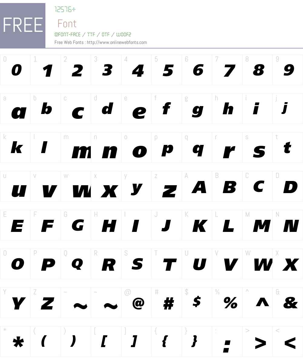 VTB Group Extra Bold Font Screenshots
