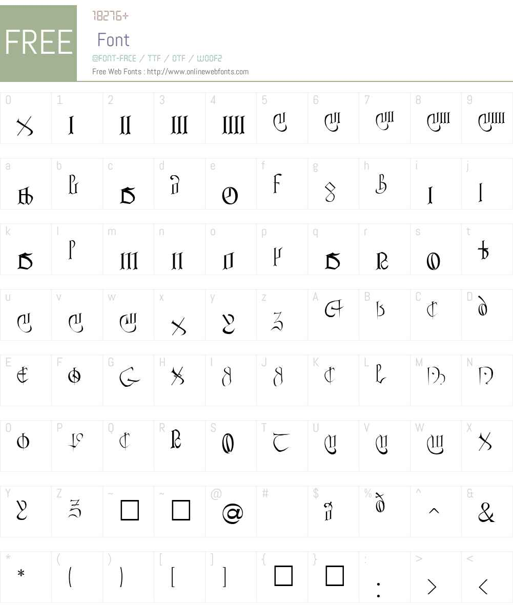Anglo Sax Font Screenshots