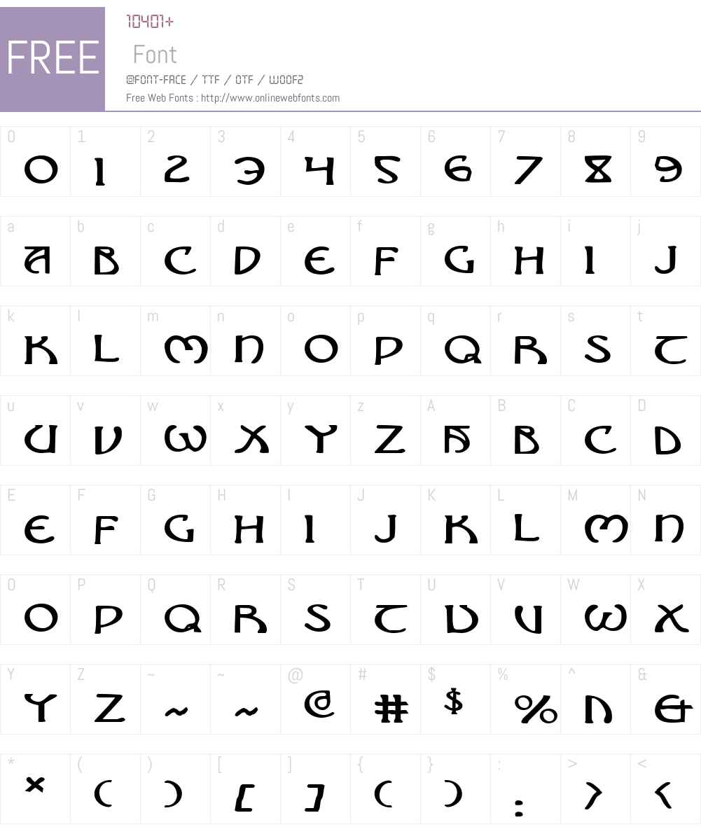 Brin Athyn Expanded Font Screenshots