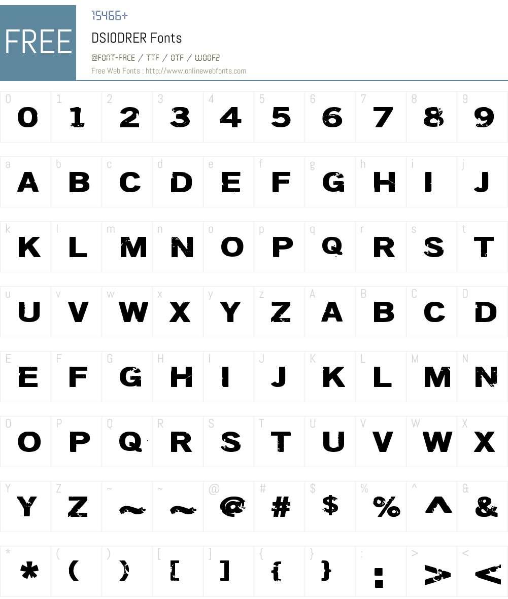 DSIODRER Font Screenshots