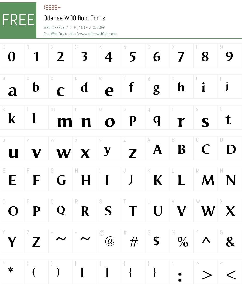 OdenseW00-Bold Font Screenshots