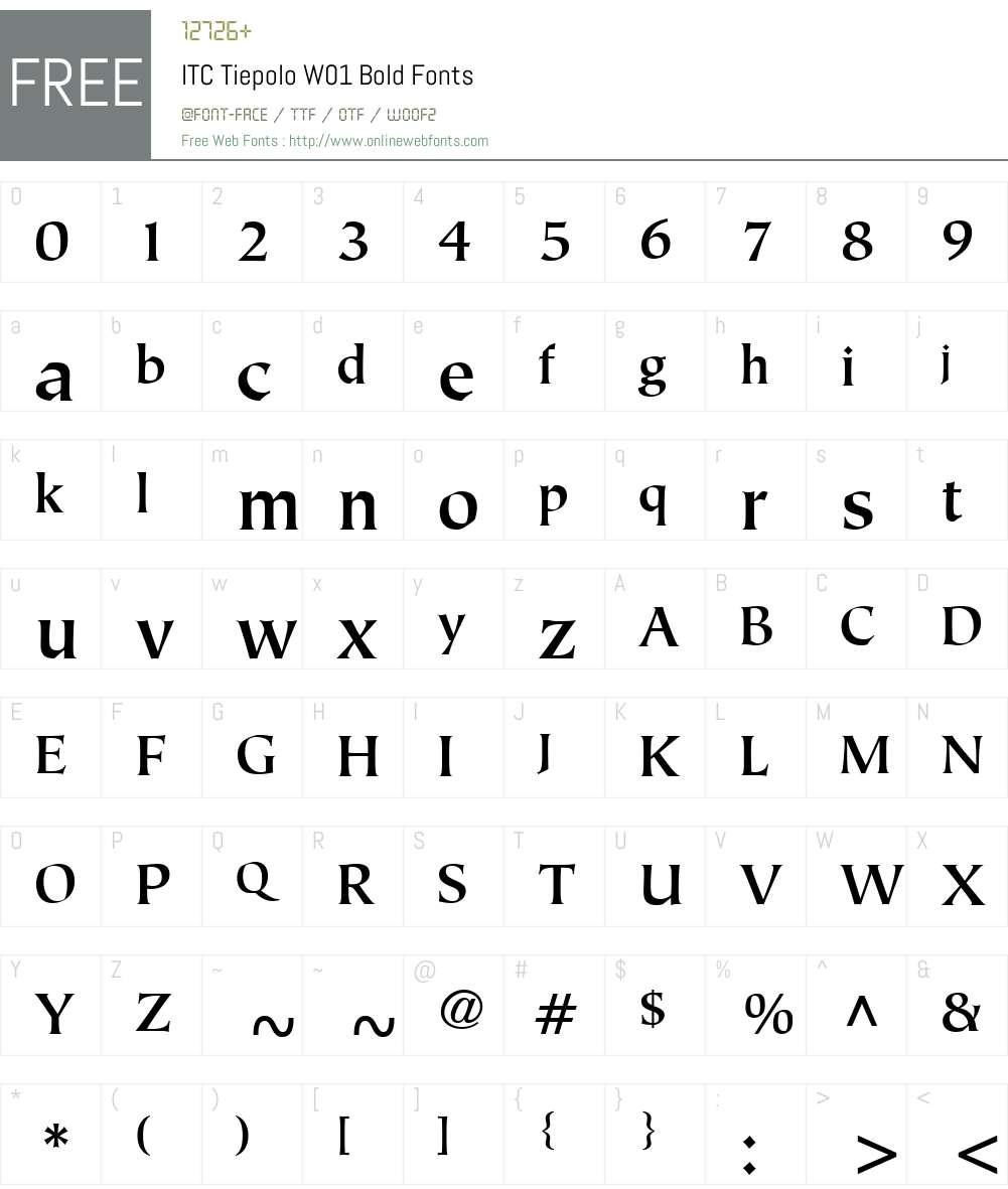 ITCTiepoloW01-Bold Font Screenshots