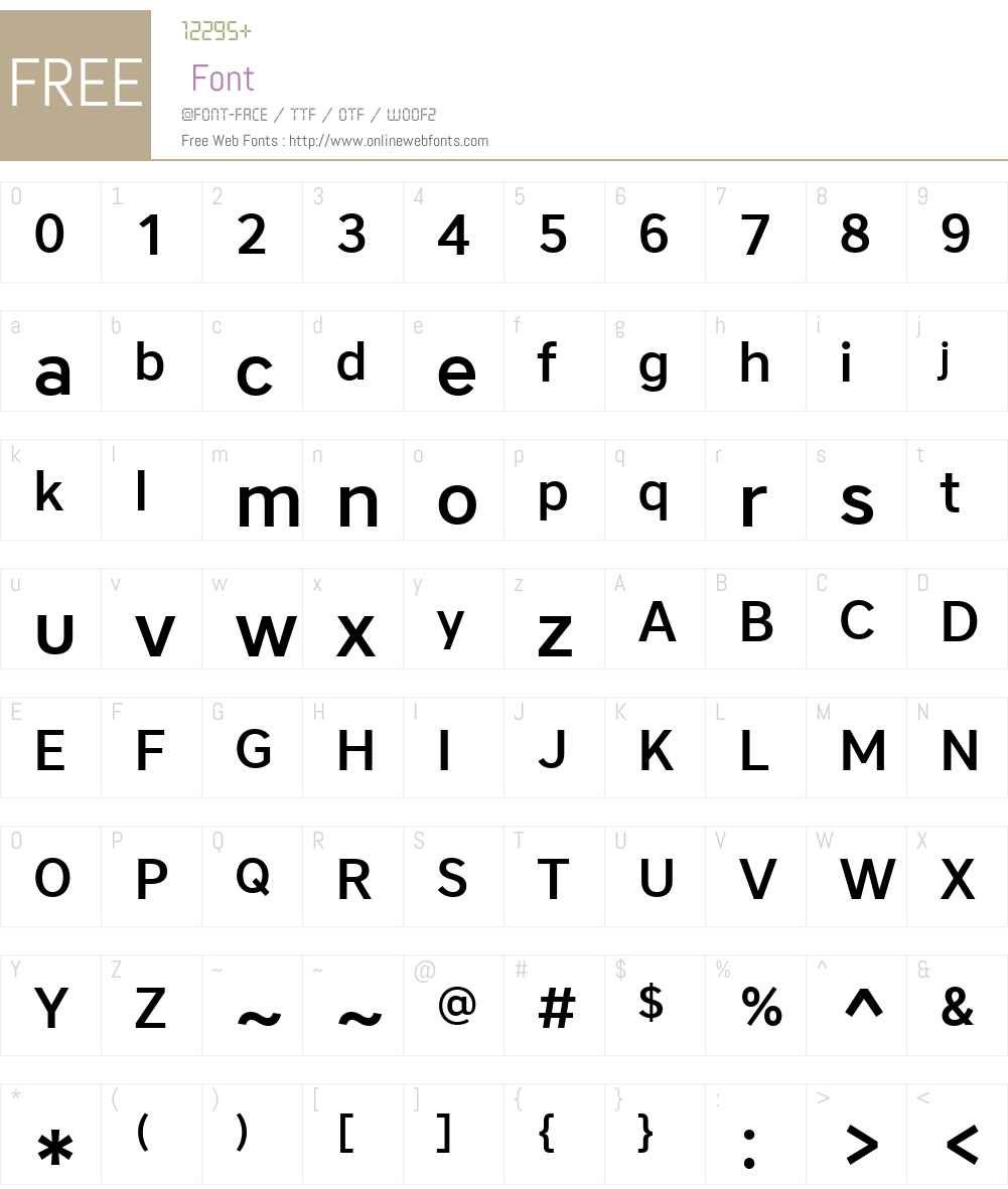 CoreSansA55MediumW01-Rg Font Screenshots